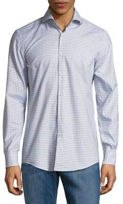 HUGO BOSS Plaid Button-Down Shirt