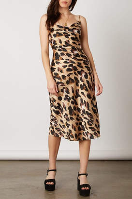 Cotton Candy Leopard-Print Slip Dress