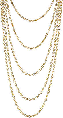 Pippa Small Gold Plated Silver Necklace with Lapis