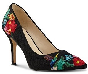 Women's Nine West Flax Embroidered Pump $68.95 thestylecure.com