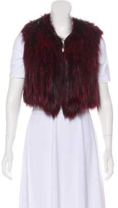 Isabel Marant Open Front Fur Vest
