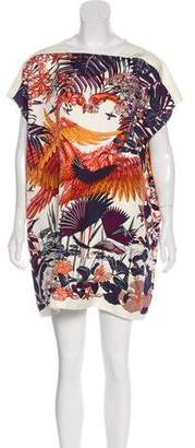 Hermes Flamingo Party Silk Dress