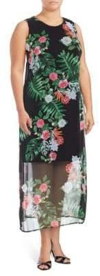 Vince Camuto Havana Tropical Sleeveless Dress
