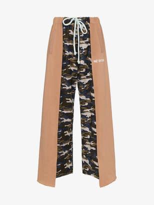 Natasha Zinko camouflage panelled cotton blend track pants