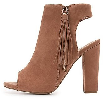 Bamboo Tassel Slingback Booties $40.99 thestylecure.com