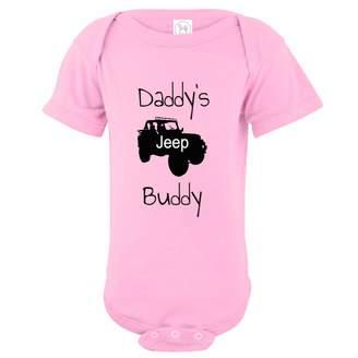 U.S. Custom Tees U.S. Custom Kids Daddy's Jeep Buddy Baby Onesie