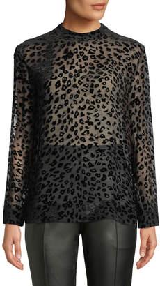 Rag & Bone Gia Leopard-Print Velvet Burnout Tee