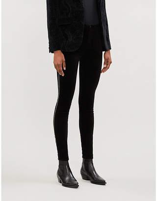 J Brand Maria skinny mid-rise velvet trousers