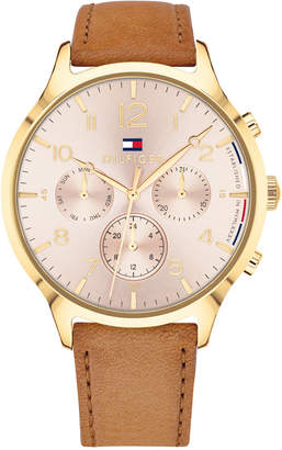 Tommy Hilfiger Women's Camel Leather Strap Watch 38mm