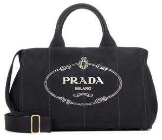 Prada Jardinera Large canvas shopper bag