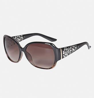 Avenue Floral Etched Sunglasses