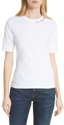 Frame Los Angeles Embroidered True Crew Tee
