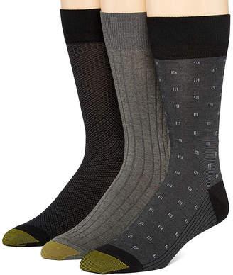 Gold Toe 3 Pair Crew Socks-Mens