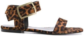 Saint Laurent leopard pattern sandals