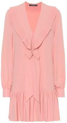 Alexander McQueen Silk crepe minidress