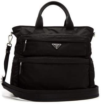 Prada - Double Pocket Nylon Tote - Mens - Black