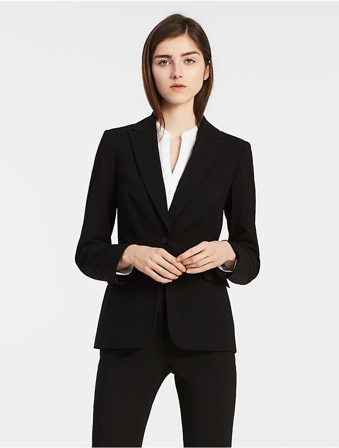 Calvin KleinOne Button Suit Jacket