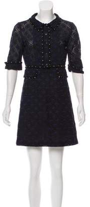 Chanel Eyelet A-Line Dress