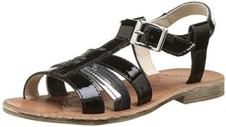 Achile Girls' Kimitsu T-Bar Sandals Black Size: 10.5 Child UK