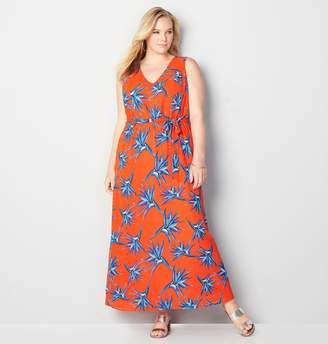 Avenue Blue Floral Maxi Dress