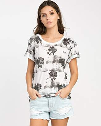 RVCA Junior's Oblovers Roses Short Sleeve T-Shirt
