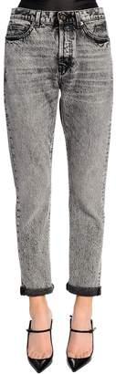 Saint Laurent Skinny Stretch Washed Denim Jeans