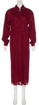 eskandar Long Sleeve Button-Up Maxi Dress