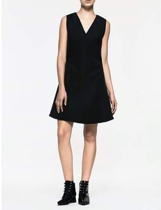 Calvin Klein platinum v-neck sleeveless dress