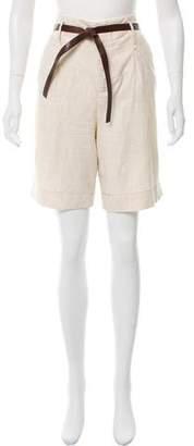 Forte Forte High-Rise Knee-Length Shorts