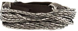 Goti Sterling Multistrand Leather Bracelet $625 thestylecure.com