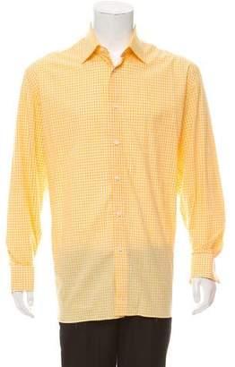 Borrelli Gingham French Cuff Shirt