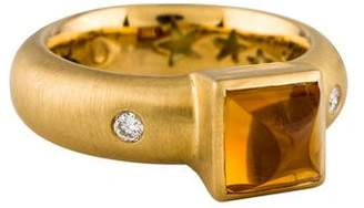H.Stern 18K Citrine & Diamond Ring