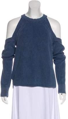 Rag & Bone Cold-Shoulder Rib Knit Sweater