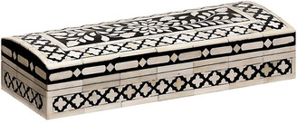 """Mela Artisans 15"""" Imperial Beauty Rectangular Box - Black/White"""