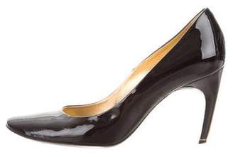 Roger Vivier Patent Leather Round-Toe Pumps