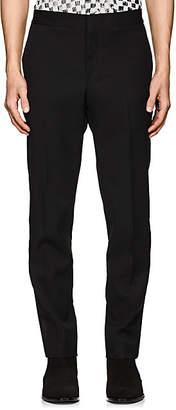 Saint Laurent Men's Satin-Striped Wool Tuxedo Trousers - Black