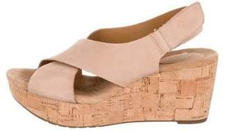 Clarks Suede Wedge Sandals