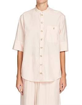 Bassike Cotton Silk Short Sleeve Shirt