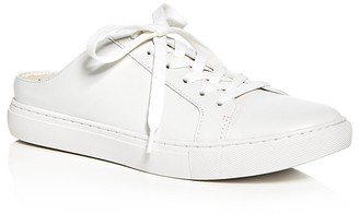 Kenneth Cole Kinsley Leather Lace Up Sneaker Mules $110 thestylecure.com