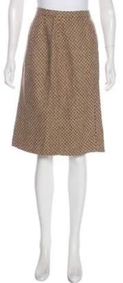 Oscar de la Renta Tweed Knee-Length Skirt Tan Tweed Knee-Length Skirt
