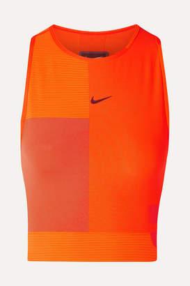 Nike Tech Pack Cropped Cutout Pro Hypercool Top - Orange