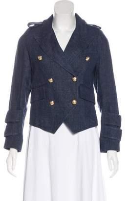 Smythe Linen Cropped Jacket