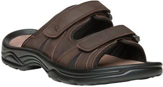 Propet Men's Adjustable Strap Leather Slide Sandals - Vero