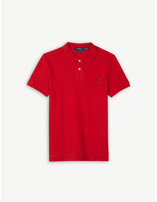 Ralph Lauren Logo custom fit cotton polo shirt 4-14 years