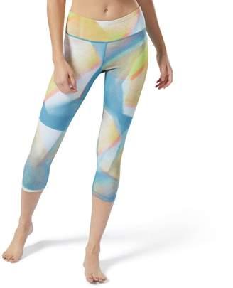 Reebok Women's Lux Bold Yoga Midrise Capri Leggings