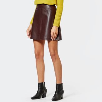 Whistles Women's Leather A-Line Skirt