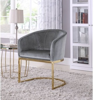 Chic Home Livorno Velvet Upholstered Half-Moon Accent Chair
