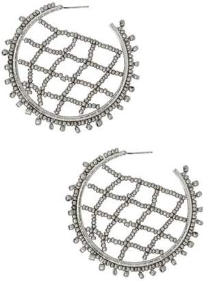 BaubleBar Crochet Lattice Hoop Earrings