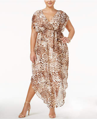 4aa0f95dad Love Squared Trendy Plus Size Animal-Print Maxi Dress