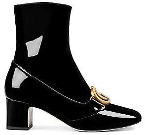 a72dd6611 Gucci Women's Patent Leather Ankle Boot With Double G
